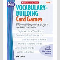Vocabularybuilding Card Games Grade 2 By Liane B Onish
