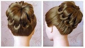 Coiffure Tresse Facile Cheveux Mi Long : tuto coiffure simple cheveux mi long long chignon tress ~ Melissatoandfro.com Idées de Décoration