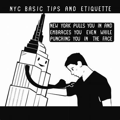 Etiquette Tips Nyc Basic York Animated Pyle
