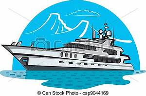 Luxury Yacht - Royalty Free Vector Image - csp9044169