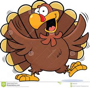 Happy Thanksgiving Turkey Cartoon