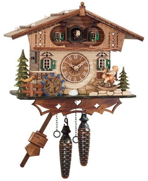 pendule murale de cuisine coucou à quartz musical chalet enfant horloge coucou