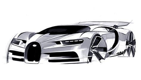 bugatti chiron design sketch car body design