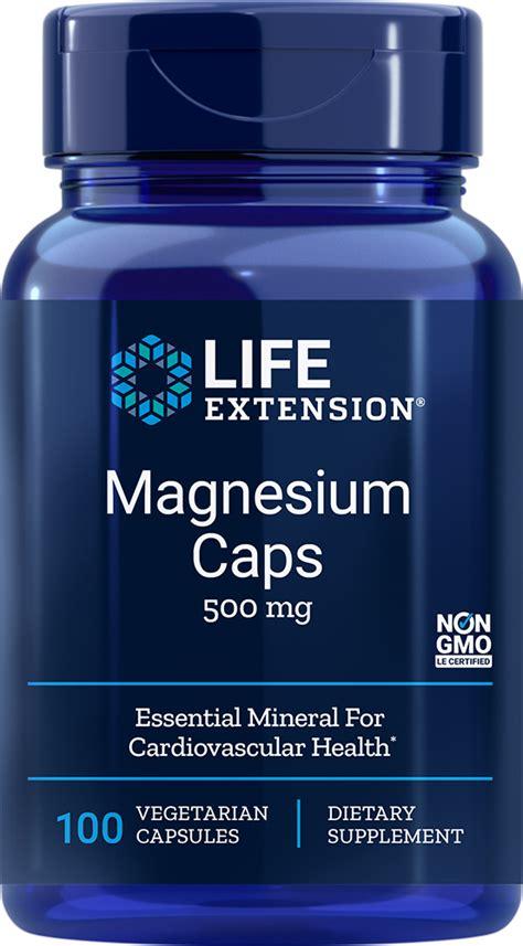 magnesium caps  mg  capsules life extension