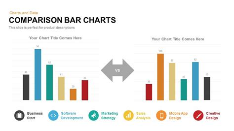 comparison bar charts powerpoint template  keynote
