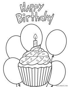 printable happy birthday coloring pages  kids