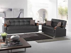 soho sofa bed in brown bonded leather by rain w optional items With soho sofa bed