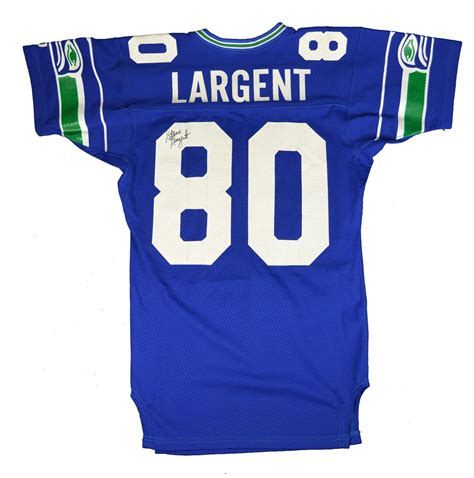lot detail  steve largent seattle seahawks game worn
