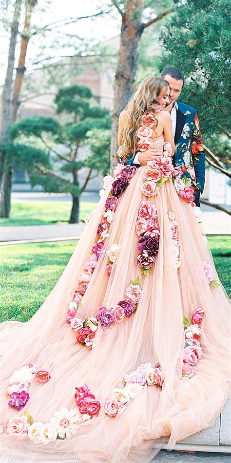 floral wedding dresses  lena kozhina deer pearl flowers