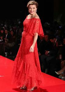 Get The Look: Go Red 2017 Lucy Lawless' Nicole Miller ...