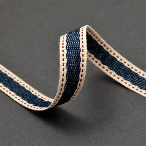 """5/8"""" Stitched Twill Tape Trim Ribbon, BS-5125"""