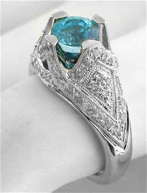 Unique Blue Zircon Engagement Ring In 14k White Gold(gr1042. Test Watches. Custom Rubber Bracelet. High End Bracelet. Jewel Bracelet