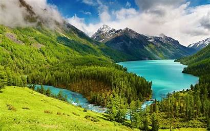 Nature Mountain Forest Trees Landscape Water Lake