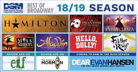 dallas summer musicals announces broadway season dallas