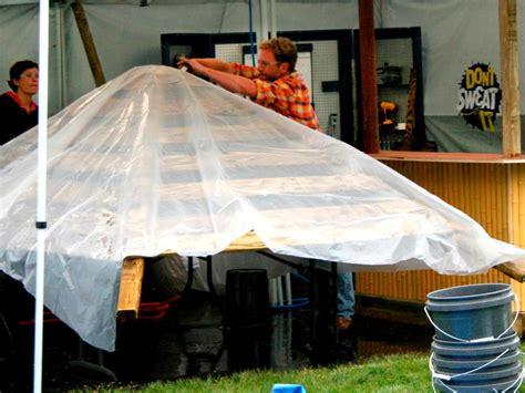 Build A Tiki Bar by Thatch Panels And Rolls Diy Tiki Hut Project Backyard X