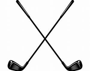 Golf Logo 5 Clubs Iron Wood Golfer Golfing Sports Course Cart