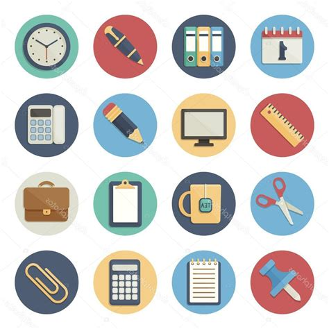 Office Supplies Vector by Best Hd Office Supplies Icon Vector File Free 187 Free