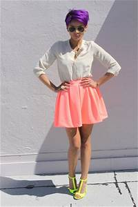 Yellow Zara Sandals Coral Zara Skirts Cream