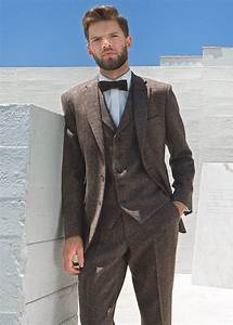 Brown Donegal Tweed Suit Hire - PARKERS FORMAL WEAR