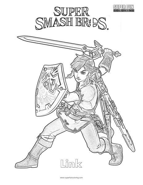 link coloring pages link smash brothers coloring page coloring