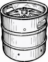 Keg Clip Clker Beer Clipart sketch template