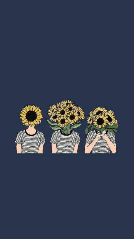 aesthetic wallpaper lockscreen sunflower