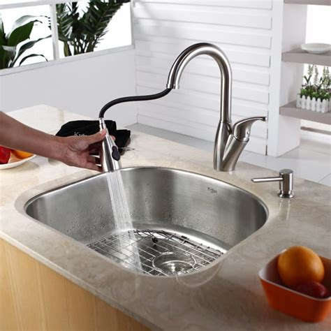 Ticor Vs Kraus Sinks by Kraus Kbu10 23 Inch Undermount Single Bowl Kitchen Sink