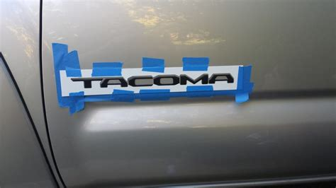 toyota tacoma letter font template raised matte black side door letters new font tacoma world