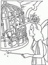 Coloring Pinocchio Pages Printable sketch template