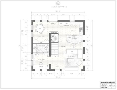 Interior Floor Plans by Assignment 4 Floor Plan Interior Design Institute