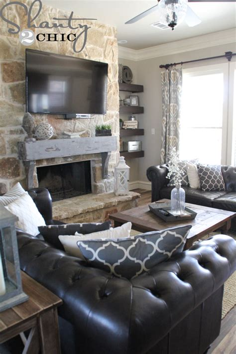build  hang  mantel   stone fireplace