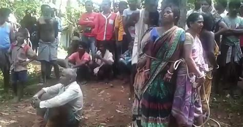 Women Tied To Tree And Brutally Beaten As Villagers Accuse