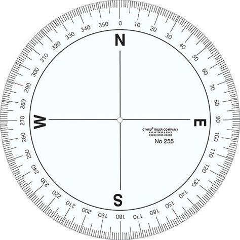printable  degree protractor   compass