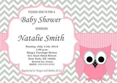 Invitaciones de bebé ducha invitación niña Baby Shower buho