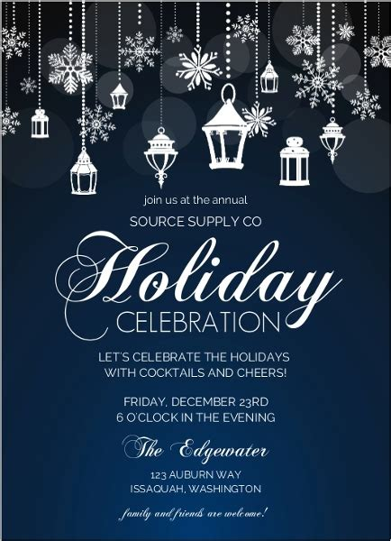 Office Holiday Party Invitation Wording Ideas From PurpleTrail