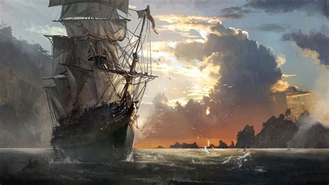 Assassin S Creed Rogue Wallpaper Pirate Ship Painting