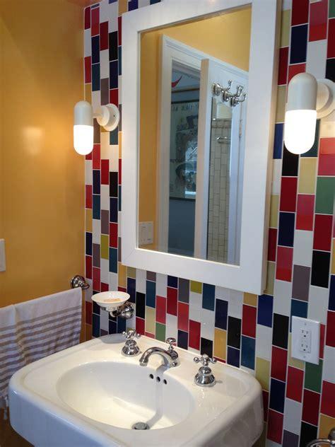 colorful bathrooms colorful bathroom renovation popsugar home