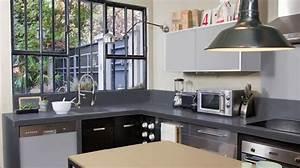 peinture cuisine bonnes couleurs pieges a eviter With sol gris quelle couleur pour les murs 11 choisir un sol noir les bons conseils