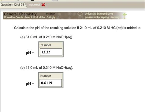 Calculate The Ph Of The Resulting Solution If 21.0