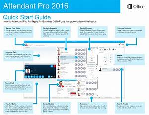 Attendant Pro For Skype For Business 2015 And 2016 Quick
