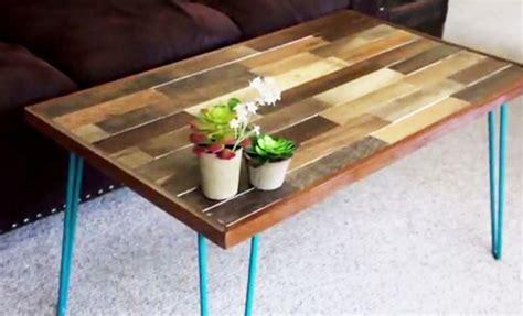 fabrication table en bois tutoriel pour fabriquer une table basse en bois de palette