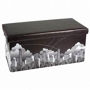 Polster Aufbewahrungsbox Wasserdicht : pouf pouff puff ottoman pieghevole contenitore new york city 77x38x38 ecopelle bakaji prezzi in ~ Frokenaadalensverden.com Haus und Dekorationen