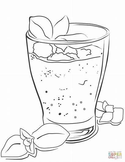 Smoothie Coloring Pages Drawing Milkshake Printable Drinks