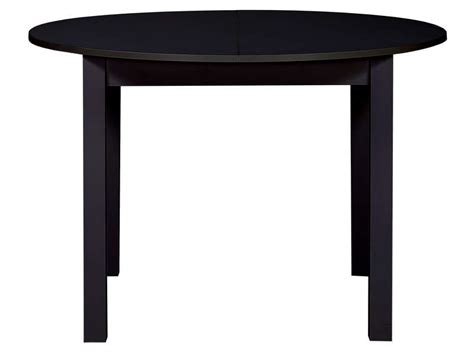 table ronde avec allonge 160 cm max coloris noir vente de table conforama