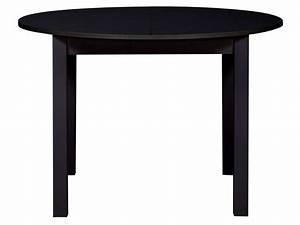 Table Extensible Conforama : table ronde avec allonge 160 cm max nova coloris noir ~ Melissatoandfro.com Idées de Décoration