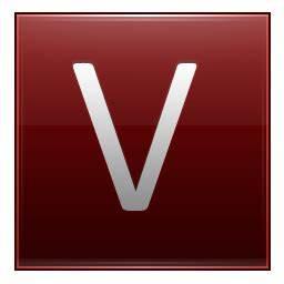 Letter V red Icon | Multipurpose Alphabet Iconset ...