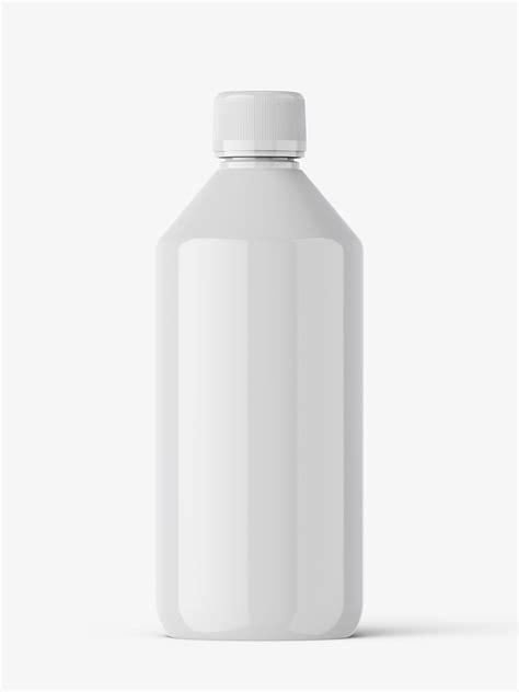 Glossy supplement pills bottle mockup. Glossy bottle mockup - Smarty Mockups