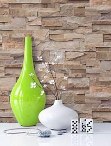 Steinwand Tapete 3d : tapete stein steinwand vlies mauer beige fototapete klinker wand 3d optik neu wohnen ~ Eleganceandgraceweddings.com Haus und Dekorationen