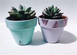 Spring, Glitter, Succulent, Pots