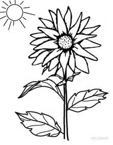 top  sunflower coloring pages  kids